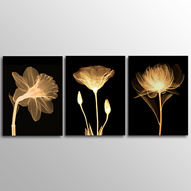 Canvas Print Abstract PlantThree Panels Canvas Horizontal Print Wall Decor For Home Decoration