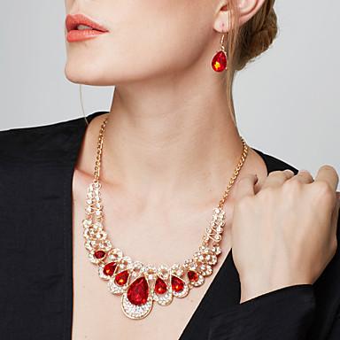 fc11e5eb6c19 Juego de Joyas Pendientes colgantes Collares Declaración Pendiente Collares  Babero Moda Europeo Elegant ...