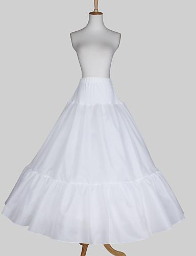 Nylon a line full gown 3 tier floor length slip style for Full length slip for wedding dress