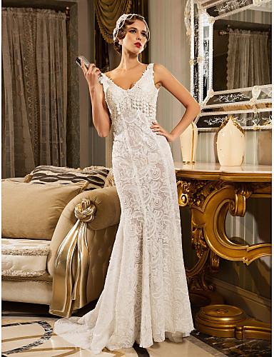 Vestido de noiva simples inspirado em Carolina Dieckmann