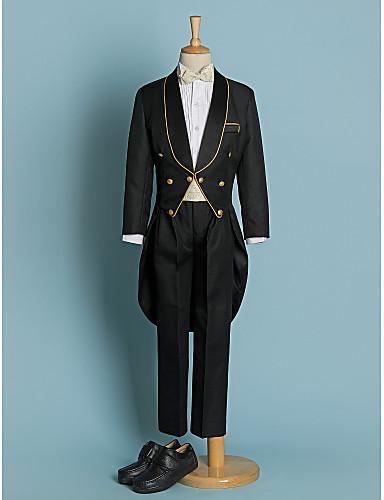 Buy Polyester Ring Bearer Suit - 5 Pieces Includes Jacket / Shirt Pants Waist cummerbund Bow Tie