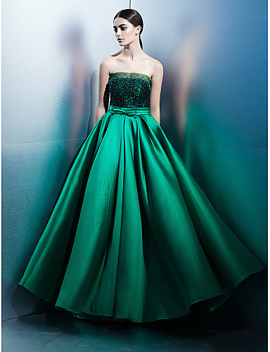 Buy TS Couture® Formal Evening Dress A-line Strapless Floor-length Lace / Satin Bow(s)