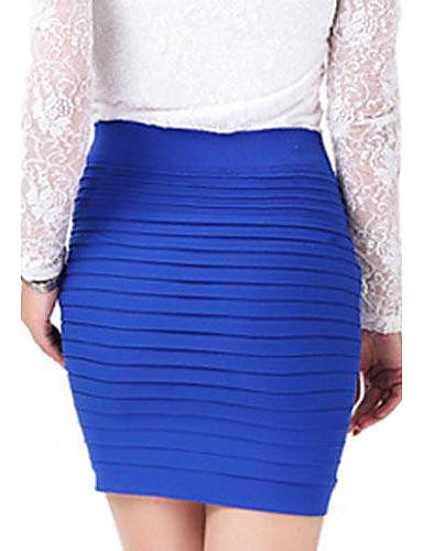 s solid blue purple pink skirt bodycon mini