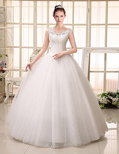 Wedding Gowns New York Stores : Ball gown wedding dress floor length v neck lace tulle