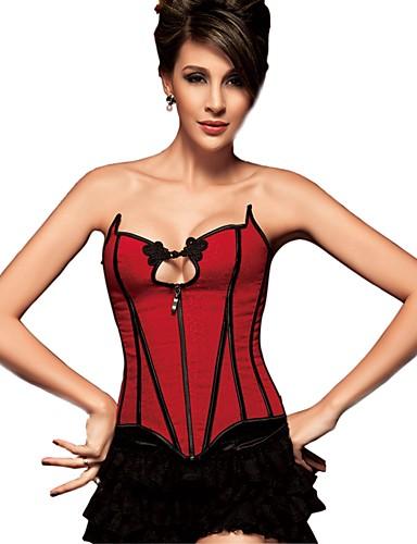 serre taille corset grande taille v tement de nuit femme sexy push up r tro couleur. Black Bedroom Furniture Sets. Home Design Ideas