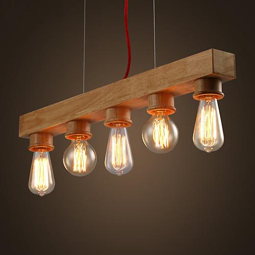 Max 60w island light , contemporaneo / rustico legno ...