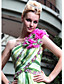 One Shoulder Sheath/Column Floor-length Print Evening Dress