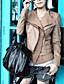 lange mouw kraag partij / carrière pu jas met zakken (meer kleuren)