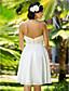 Lanting sposa a-line / principessa petite / taglie sposa di chiffon innamorato abito-al ginocchio