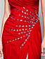 Prom / Formal Evening / Military Ball Dress - Open Back Sheath / Column Strapless / Sweetheart Floor-length Jersey withCrystal Detailing