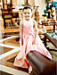 Lanting Bride A-line / Princess Floor-length Flower Girl Dress - Satin Sleeveless Jewel with Flower(s) / Sash / Ribbon