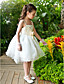 A-line / Ball Gown / Princess Ankle-length Flower Girl Dress - Chiffon / Lace / Satin / Tulle Sleeveless Straps with Bow(s) / Sequins