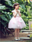 Flower Girl Dress - Trapezio/Palloncino/Stile Principessa Cocktail Maniche corte Raso/Tulle