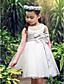Plesové šaty / Princess Ke kolenům Šaty pro květinovou družičku - Satén / Tyl Bez rukávů Kopeček s Mašle / Křišťály / Perličky