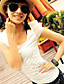 sierlijke kralen versierd pofmouwen t-shirt wit
