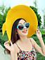 Straw Hat - Dla kobiet - Na co dzień - Lato - Len