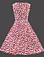 Vintage λεπτό πουά αμάνικο φόρεμα των γυναικών (με ιμάντα)