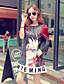 Mulheres Vestido Acima do Joelho Manga Longa Decote Redondo Mulheres