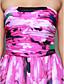 ts couture® báli hivatalos esti ruha-line vállnélküli földig érő sifon mintával / print