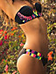 Virágmintás / Push-up / Boho Megkötős Női Bikini,Push-up Poliészter