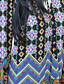 여성의 플로럴 보트넥 ½ 길이 소매 블라우스,심플 캐쥬얼/데일리 블랙 / 그린 폴리에스테르 여름 중간