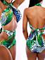 Ženski Bikini-Bandeau grudnjak-Nepodstavljen grudnjak-S cvjetnim printom / Izrezati-Najlon