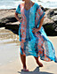 Kvinner Geometrisk Uten bøyle Halter Cover-up Chiffon