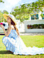 Gatemote Chiffon / Swing Blomstret Dress Kvinner Asymmetrisk Med stropper Polyester / Spandex