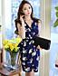 DABUWAWA® נשים V עמוק בלי שרוולים מעל הברך שמלות-D15BDR360