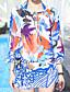 Damen Einteiler / Strandkleidung - Floral Einzelteil Chiffon Halfter