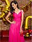 Sütun Süpürge / Fırça Kuyruk Şifon Balo Resmi Akşam Elbise ile Boncuklama Yan Drape tarafından TS Couture®