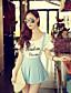 rosa Doll® Feminino Cintura Alta Shorts Rosa / Verde Casual Calças-X15BSP026