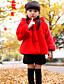Mädchen Jacke & Mantel-Lässig/Alltäglich einfarbig Polyester Winter Rot / Weiß