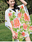 Damer Casual Silke Halstørklæde-Trykt mønster Rektangulær