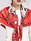 Damer Vintage / Casual Nylon Halstørklæde-Trykt mønster Firkantet