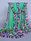 Damer Vintage / Sødt / Casual Chiffon Halstørklæde-Trykt mønster Rektangulær