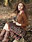 Kvinders Vintage Knælang Nederdele Uelastisk Bomuld