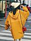 Hætte Langærmet Tynd Kvinders Gul Ensfarvet Efterår Simpel I-byen-tøj / Casual/hverdag Trenchcoat,Bomuld