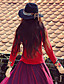 vores historie går ud kineserier forår / efterår t-shirtembroidered rund hals langærmet rød polyester medium