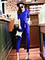 Kortærmet Kvinders Vintage Jumpsuits Mikroelastisk Polyester
