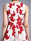 2017 ts couture® koktél ruha egy-line ékszer térdig érő csipke appliques