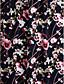 2017 לנטינג bride® שמלת השושבינה שיפון לא סימטרי - נדן / טור צווארון V עם דפוס / הדפסה