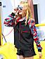 Normal Gensere Ut på byen / Fritid/hverdag / Sport Enkel / Aktiv Dame,Fargeblokk / Camouflage Sort Rund hals Langermet PolyesterHøst /