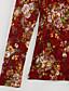 Langærmet Rullekrave Tynd Dame Blå Beige Sort Blomstret Efterår Vinter Vintage Gade I-byen-tøj Afslappet/Hverdag Plusstørrelser Bluse,