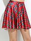 Γυναικεία Φούστες Καθημερινό/Πριντ Μίνι Μικροελαστικό Spandex/Πολυεστέρας