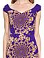 LAN TING BRIDE A-linje Kjole til brudens mor - Konvertibel kjole Blomstrete To deler Asymmetrisk Ermeløs Chiffon - Belte / bånd