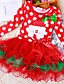 Robe Fille de Coton / Polyester / Maille Hiver / Automne Rouge