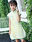 Mädchen Kleid Blumen Baumwolle Sommer Kurzarm
