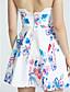 여성의 해변 / 캐주얼 민소매 드레스 (면 혼방)
