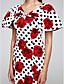 TS Couture Evento Formal Vestido - padrão Vestido Sereia Decote V Longo Cetim com Estampa